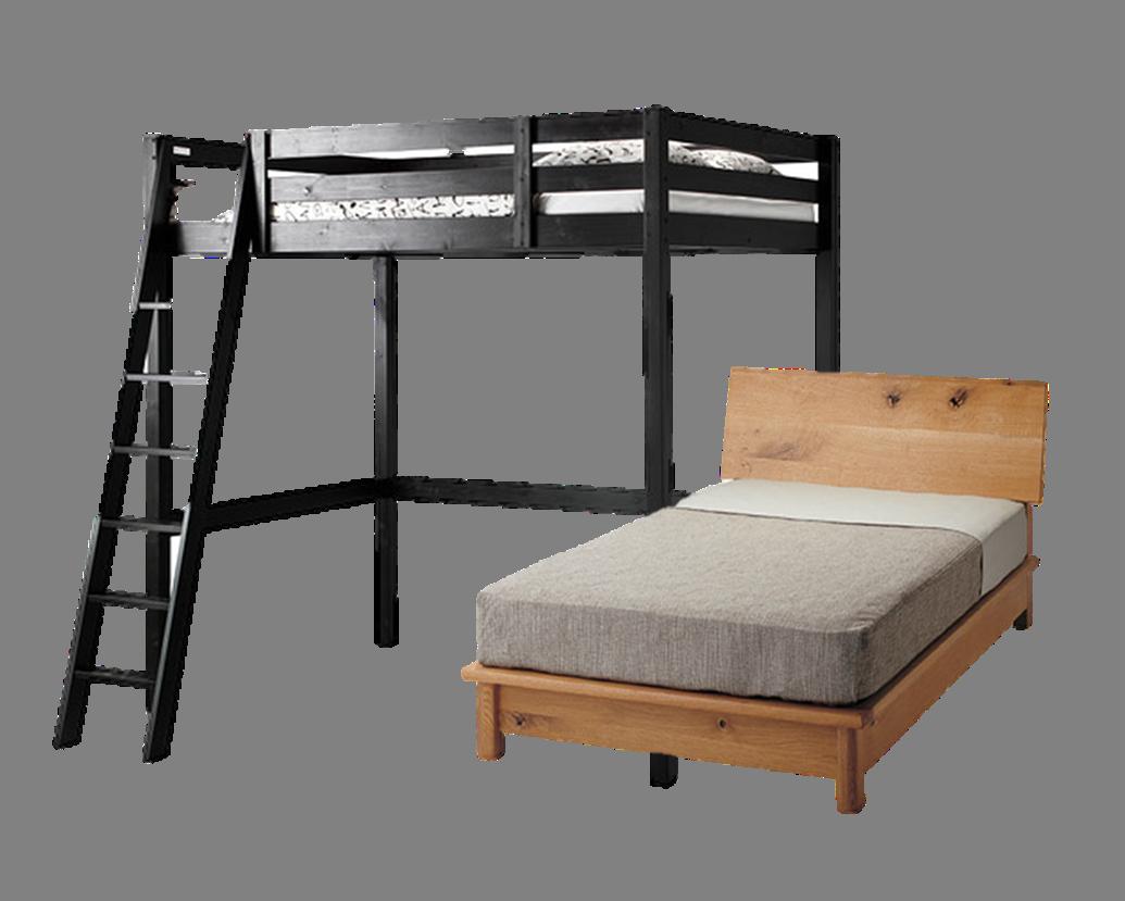 シングルベッド、ダブルベッド、ロフトベッドなど