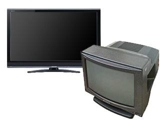 ブラウン管テレビ、薄型テレビなど